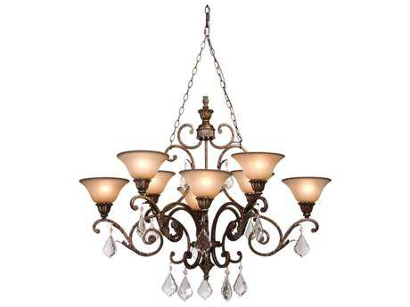 Artcraft Lighting Florence Gold Eight-Light 43'' Wide Chandelier