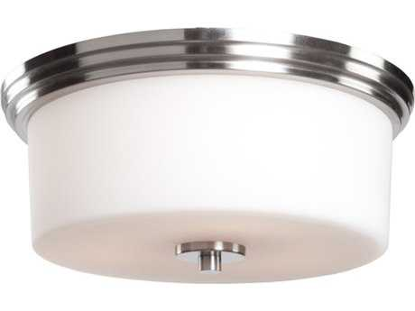 Artcraft Lighting Russell Hill Polished Nickel Two-Light 15'' Wide Flush Mount Light