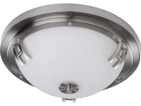 Artcraft Lighting Andover Polished Nickel Two-Light Flush Mount Light