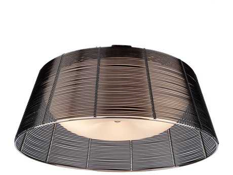 Artcraft Lighting San Jose Black & Metal Wire Three-Light Flush Mount Light