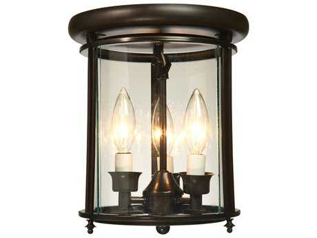 Artcraft Lighting Manor Dark Bronze Three-Light Flush Mount Light