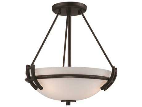 Artcraft Lighting Andover Oil Brushed Bronze Two-Light Semi-Flush Mount Light