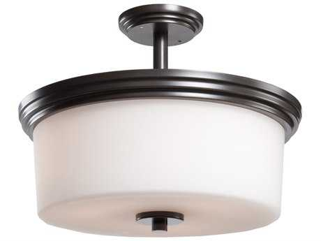 Artcraft Lighting Russell Hill Oil Brushed Bronze Three-Light Semi-Flush Mount Light
