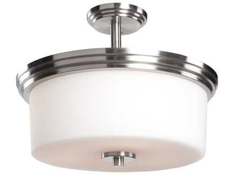 Artcraft Lighting Russell Hill Polished Nickel Three-Light Semi-Flush Mount Light