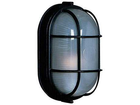 Artcraft Lighting Marine Large Oblong Black Wall Sconce