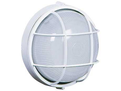 Artcraft Lighting Marine Large Round White Wall Sconce