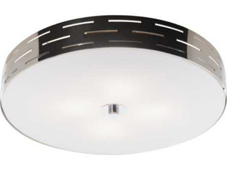 Artcraft Lighting Seattle Chrome Three-Light Flush Mount Light