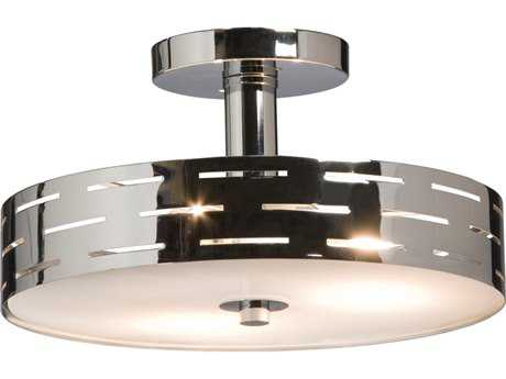 Artcraft Lighting Seattle Chrome Three-Light Semi-Flush Mount Light