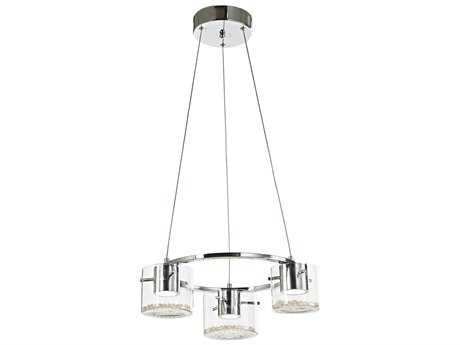 Artcraft Lighting Belmont Chrome Three-Light 18'' Wide Mini Chandelier