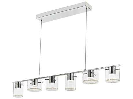 Artcraft Lighting Belmont Chrome Six-Light 49'' Wide Island Light