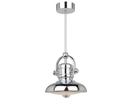 Artcraft Lighting Profile Chrome 8'' Wide Mini Pendant Light