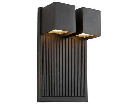 Artcraft Lighting Fontana Black Two-Light Outdoor Wall Light