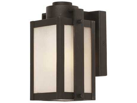 Artcraft Lighting Deacon Street Black 5'' Wide Outdoor Wall Light
