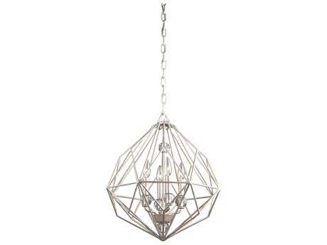 Artcraft Lighting Monterey Textured Silver Four-Light 18'' Wide Mini Chandelier
