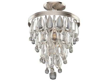 Artcraft Lighting Pebble Silver Two-Light Semi-Flush Mount Light