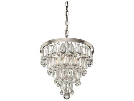 Artcraft Lighting Pebble Silver Four-Light 14'' Wide Mini Chandelier