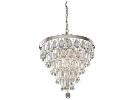 Artcraft Lighting Pebble Silver Six-Light 18'' Wide Chandelier
