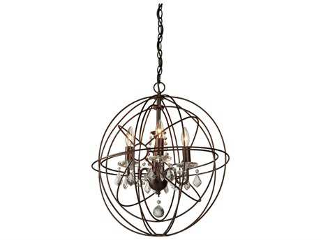 Artcraft Lighting Carnaby Street Oil Brushed Bronze Four-Light 17'' Wide Mini Chandelier