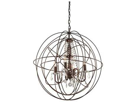 Artcraft Lighting Carnaby Street Oil Brushed Bronze Five-Light 28'' Wide Chandelier