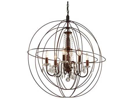 Artcraft Lighting Carnaby Street Oil Brushed Bronze Six-Light 20'' Wide Chandelier