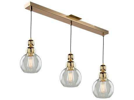 Artcraft Lighting Etobicoke Gold Three-Light 7'' Wide Island Light
