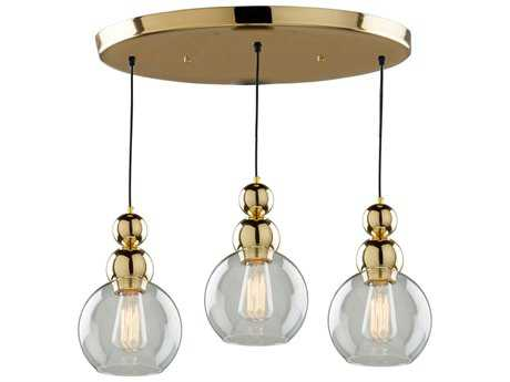 Artcraft Lighting Etobicoke Gold Three-Light 18.5'' Wide Pendant Light
