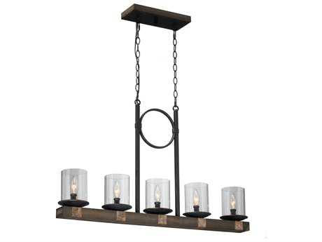 Artcraft Lighting Hockley Copper Five-Light Island Light