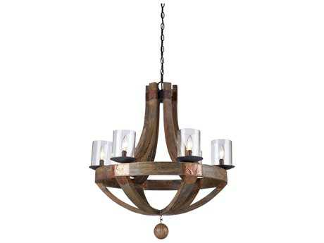 Artcraft Lighting Hockley Copper Six-Light 30'' Wide Grand Chandelier