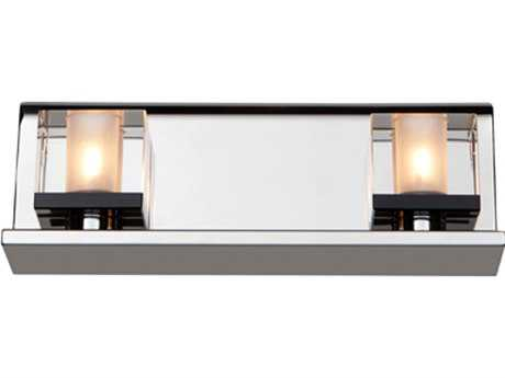 Artcraft Lighting Eddie Chrome Two-Light Vanity Light