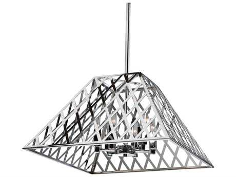 Artcraft Lighting Jardin Chrome Six-Light 19.75'' Wide Chandelier