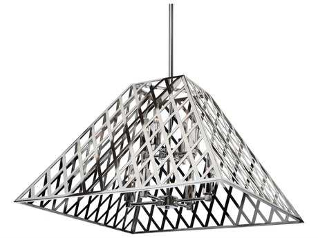 Artcraft Lighting Jardin Chrome Eight-Light 24'' Wide Chandelier