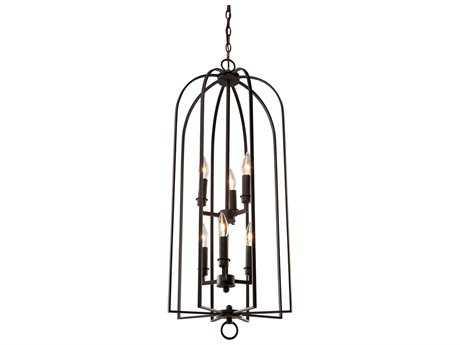 Artcraft Lighting Birds Of A Feather Black Six-Light 18'' Wide Chandelier