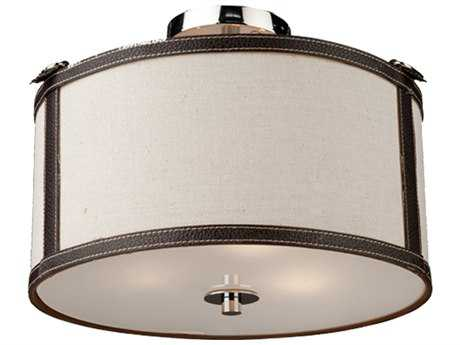 NArtcraft Lighting Bay Street White Three-Light 14'' Wide Semi-Flush Mount Light