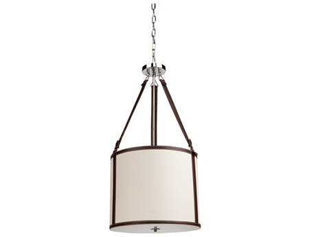 Artcraft Lighting Bay Street Oatmeal & Linen Three-Light Pendant