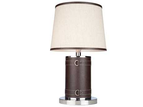Artcraft Lighting Bay Street Two-Light Table Lamp with Oatmeal Shade
