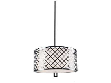 Artcraft Lighting Trellis Chrome & Linen Four-Light Pendant