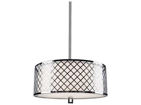 Artcraft Lighting Trellis Chrome & Linen Five-Light Pendant