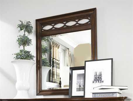 American Drew Cherry Grove 36 x 44 Mid Tone Brown Fret Mirror
