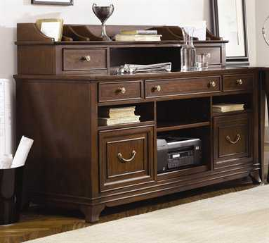 American Drew Cherry Grove Mid Tone Brown W62 D24 H43 Home Office Credenza