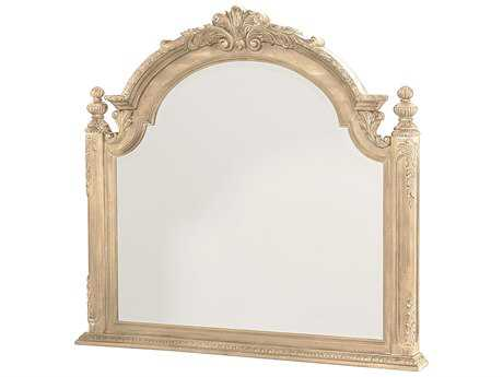 American Drew Jessica McClintock Boutique White Veil 53''W x 49''H Rectangular Wall Mirror