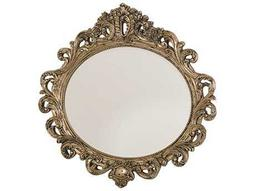 American Drew Jessica McClintock Boutique Silver Veil 51''W x 49''H Oval Wall Mirror