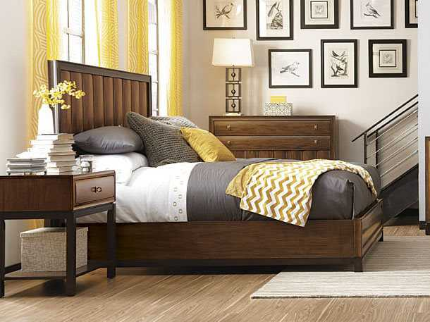 American Drew Miramar King Size Panel Bed With Storage