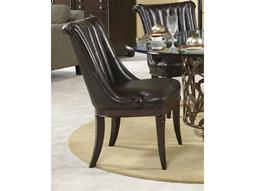 American Drew Bob Mackie Leather Side Dining Chair
