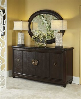 American Drew Bob Mackie 72 x 22 Credenza with Granite Top