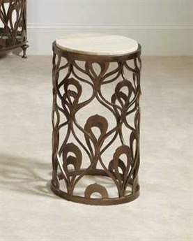 American Drew Bob Mackie 14 Round Decorative End Table