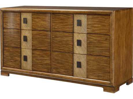 American Drew Grove Point Primvera Veneer Six Drawer Double Dresser