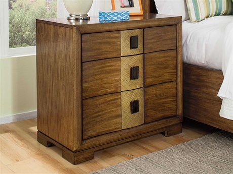 American Drew Grove Point 32'' x 18'' Rectangular Three Drawer Nightstand