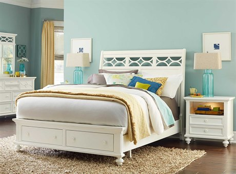 American Drew Lynn Haven Dover White Bedroom Set