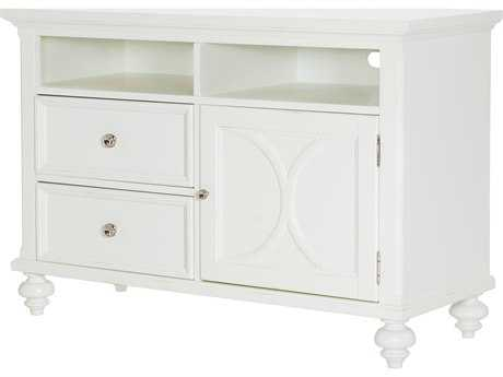 American Drew Lynn Haven Dover White 48''L x 18''W Entertainment Console