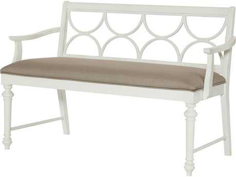 American Drew Lynn Haven Dover White Dining Bench